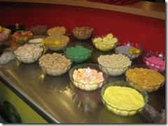 variety of ice cream toppings