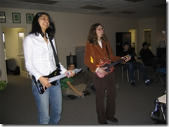 gaming in the office with guitar hero 2