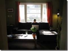 Jaime working from her home in Portland Oregon