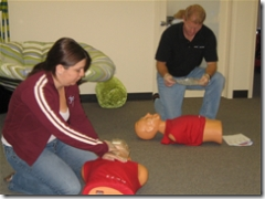 cpr dummies on the floor