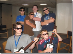 Southern Methodist University students playing Guitar Hero 2