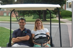 Pete and Diane golf cart