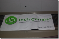 iD Tech Camps banner at Rider University