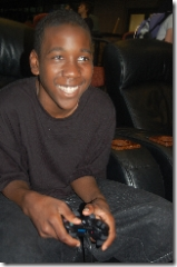 young boy video gamer