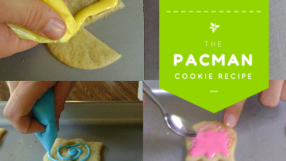 Pacman Cookie Recipe Blog Header