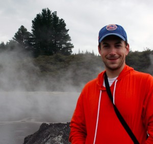 (the other) Pete in front of a geyser