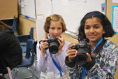 "Some of our younger ""photogs"" at camp this week"