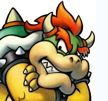 This is a promotional image for the Mario series character, Bowser (Nintendo) as imaged in the video game Mario & Luigi: Bowser's Inside Story.