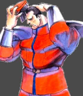 Promotional illustration of the character drawn by Bengus for Super Street Fighter II Turbo