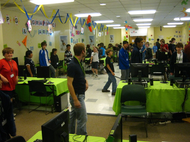 Dance Party in the lab at iD Tech Camps UC Berkeley.