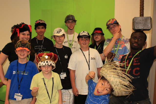 iD Tech Camps Summer Campers Crazy hat at Sacred Heart University!