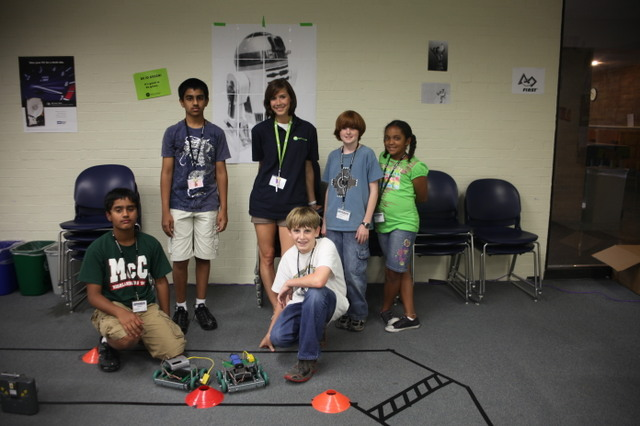 The race is on with iD Tech Camps Robocontenders course held at St. Edward's University.