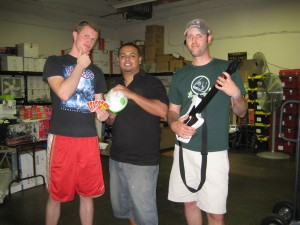 The warehouse team taking a moment for a pic (left-right: Andy, Luis, Dylan)