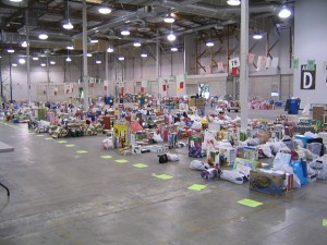 <i>A sampling of sorted and organized gifts at the Family Giving Tree Warehouse</i>