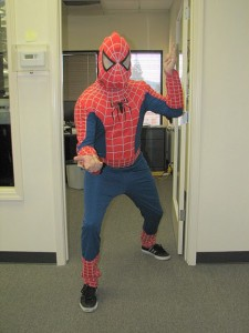 Spiderman even stopped by for a visit!
