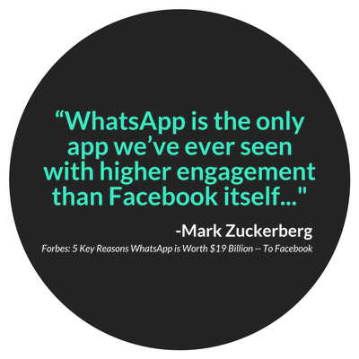 Zuckerberg Quote WhatsApp