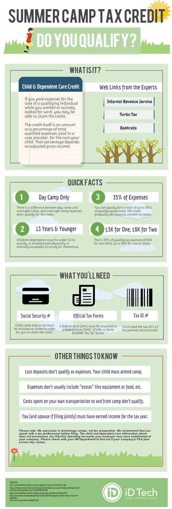 Summer Camp Tax Credit Infographic