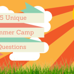 Unique Summer Camp Questions