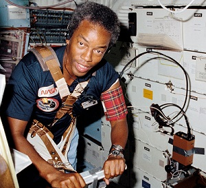 Guion Bluford Jr. on the STS-8 in 1983. Image courtesy of Wikipedia.