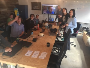 Hackathon-working-from-the-garage