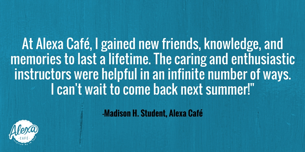 Testimonial Tuesday - Alexa Cafe (1)