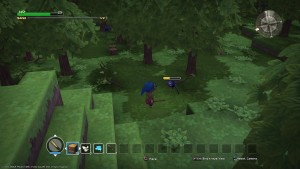 dragon quest builders, screenshot, game play, third person