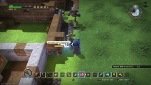 dragon quest builders, screenshot, game play, monster, attack